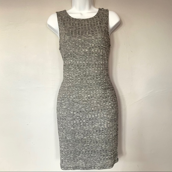 Ambiance Dresses & Skirts - Ambiance Marled Gray Ribbed Bodycon Dress, Size L